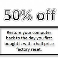 1/2 price factory reset